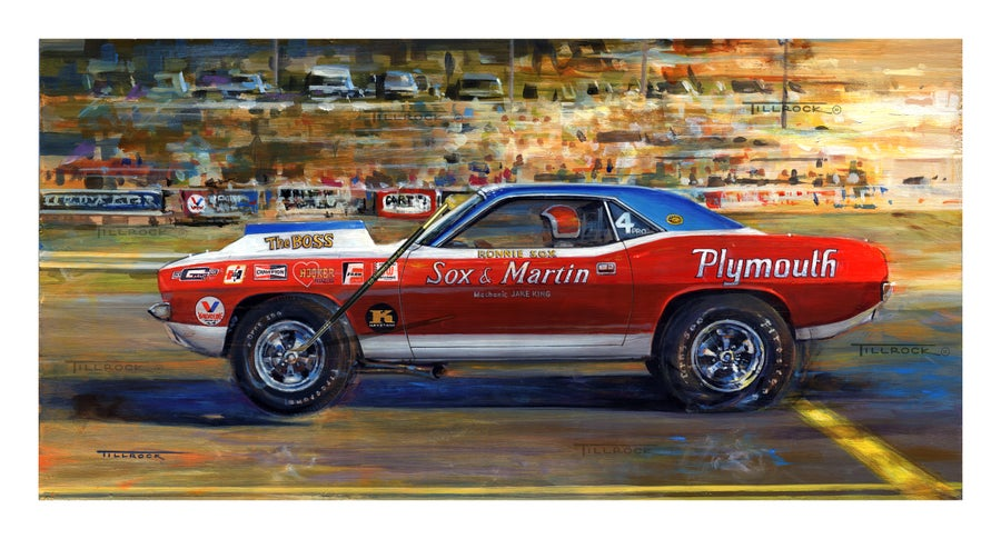 "Image of ""1971 Sox & Martin Cuda"" Painting  (14x24) or (22"" x 40"")  Signed & Numbered Giclee' Prints"