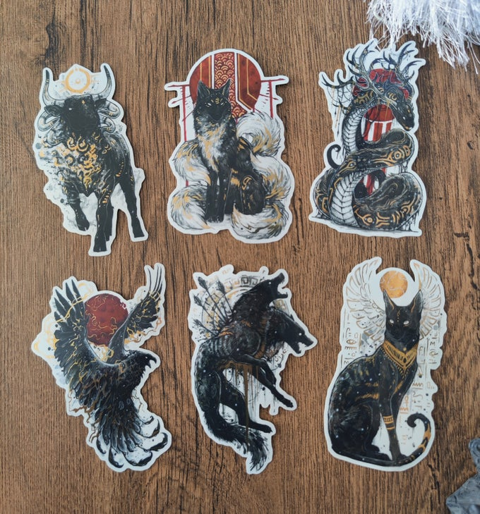 Image of Mythtober sticker bundle #2!