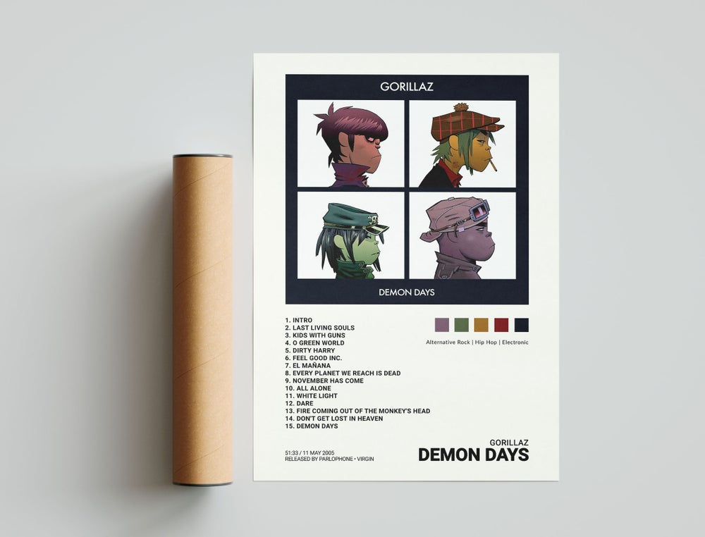 Gorillaz - Demon Days Album Cover Poster, Gorillaz Wallpaper