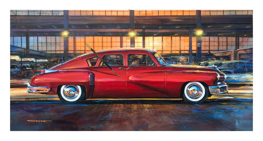 "Image of ""The Tucker 48"" Painting   (16x28)  Signed & Numbered Giclee' Prints"