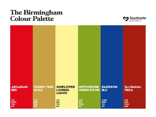 Image of Southside District Colour Palette 2