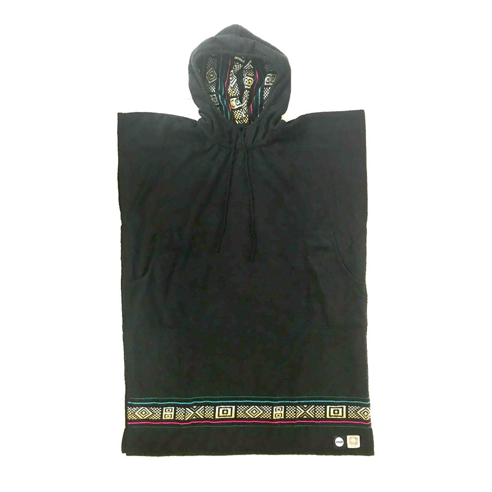 Image of Sushift x Pakal Poncho - Cross & Square Pattern