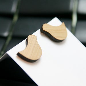 Image of Bamboo Birdy Stud Earrings