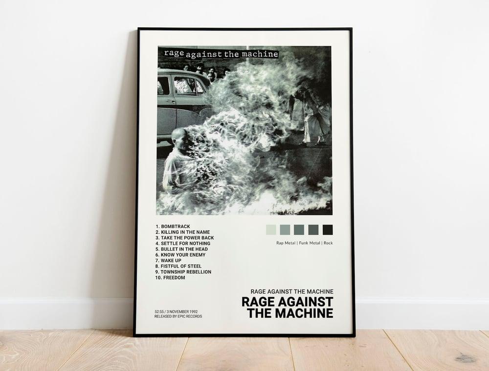 RATM - Rage Against the Machine Album Cover Poster