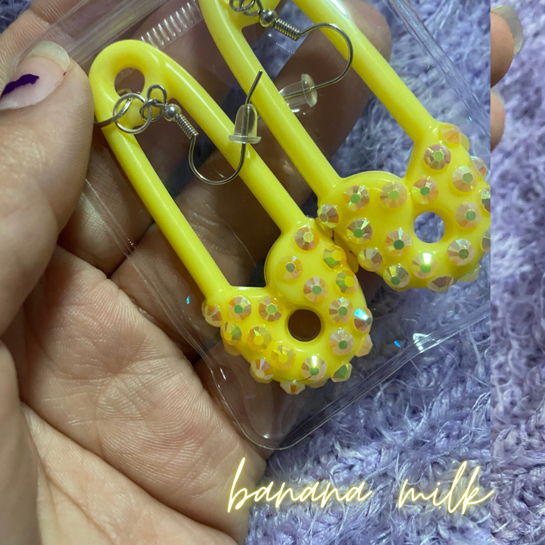 Image of Disco Baby Pin earrings