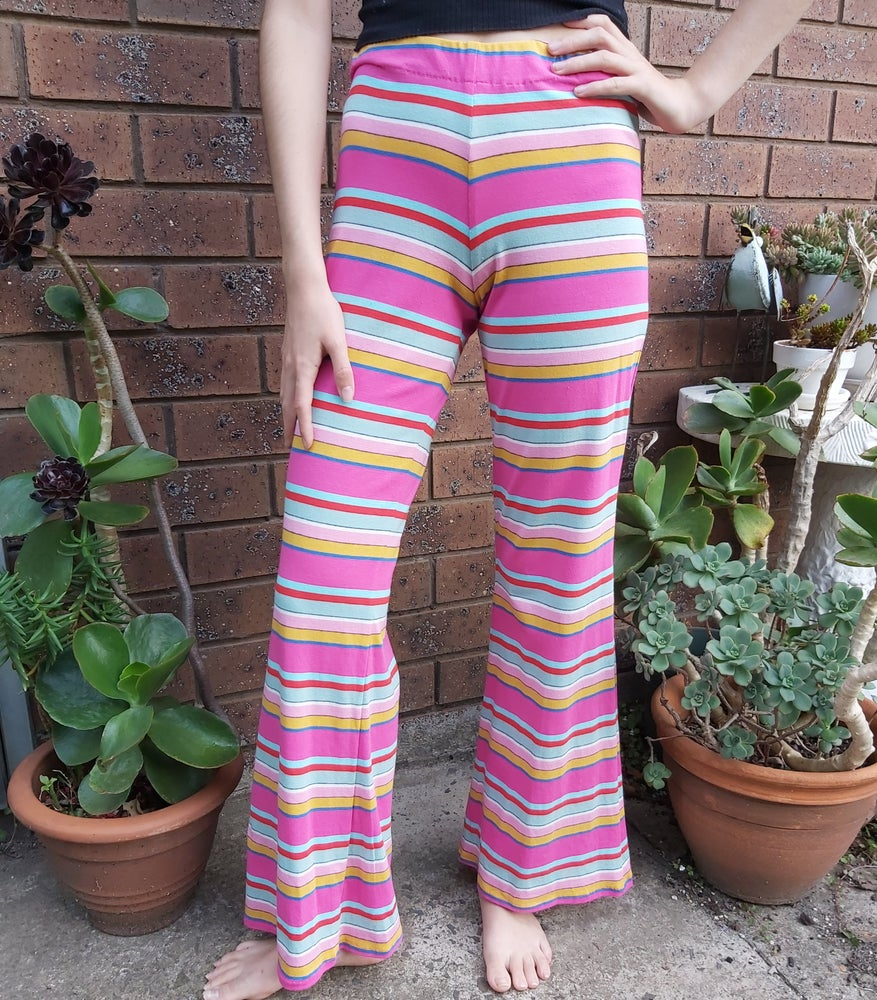 Image of Pink/yellow striped flares