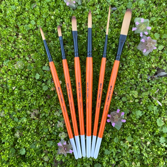 Image of Fox Tails - 6pc Paintbrush Set