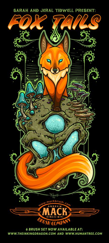 Image of Fox Tails - 6pc Paintbrush Set