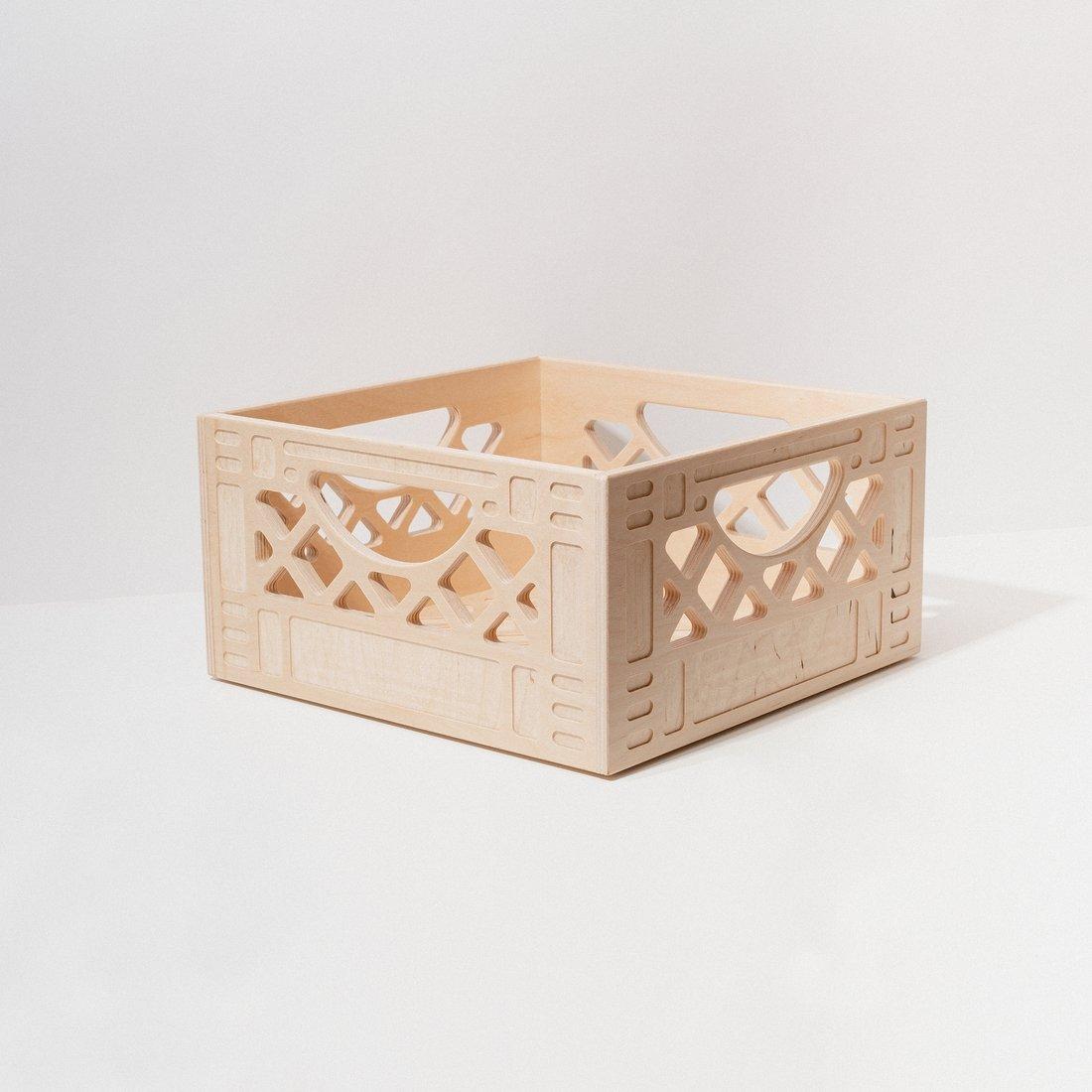Image of WAAM Wooden Milk Crate-Short Square