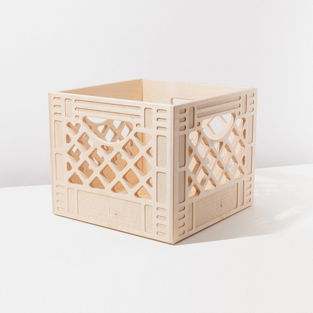 Image of WAAM Wooden Milk Crate-Standard Square