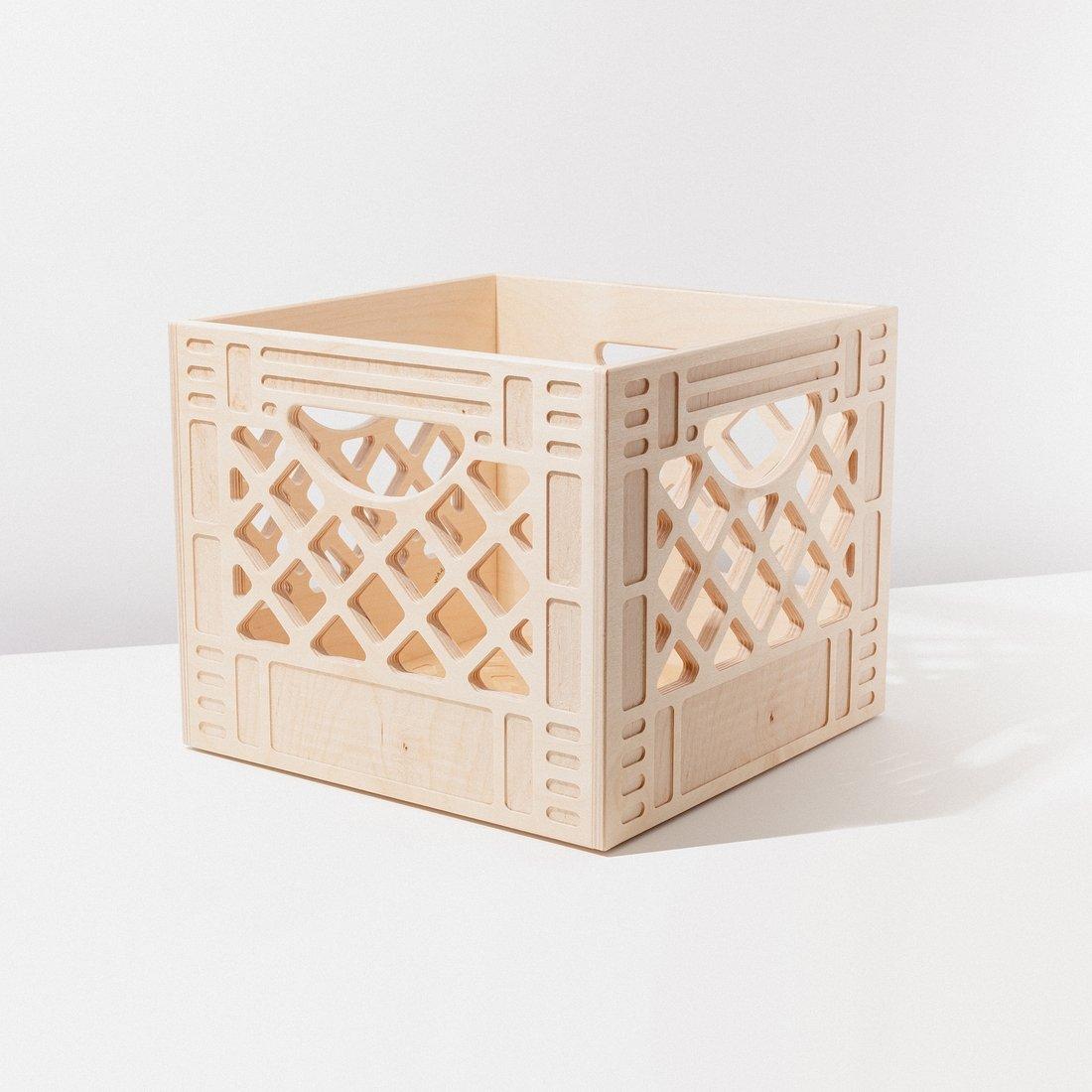 Image of WAAM Wooden Milk Crate-Standard Square