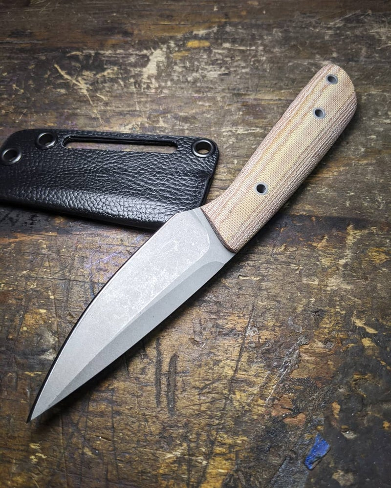 Image of Apex Backpacker - Natural Micarta Scales