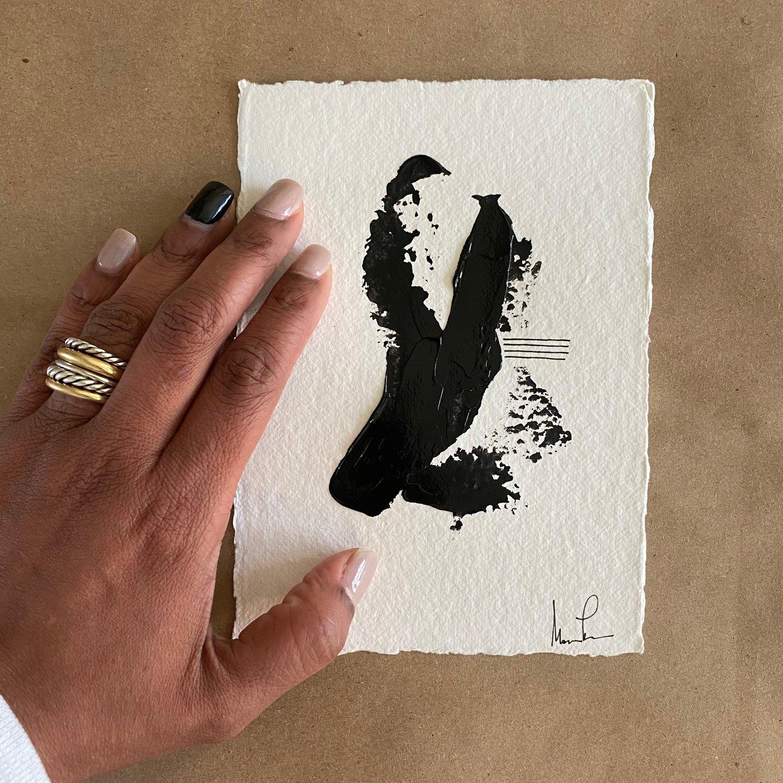 Image of Black Tie Cotton Rag (36)