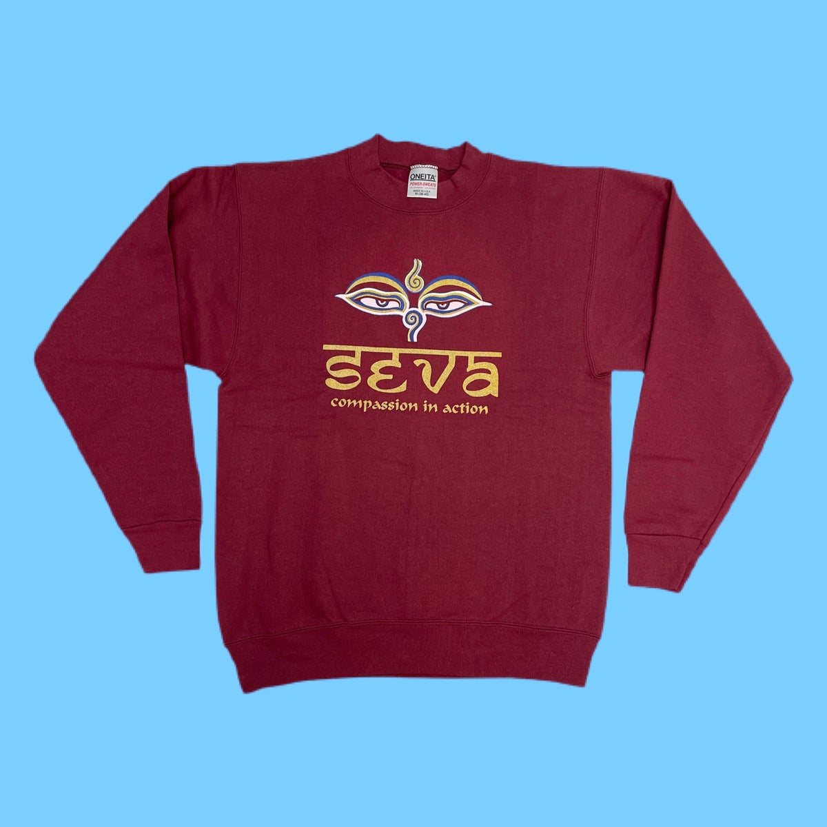 Original Vintage Grateful Dead 1990's Seva Long Sleeve Crewneck Sweatshirt!! - SMALL or MEDIUM