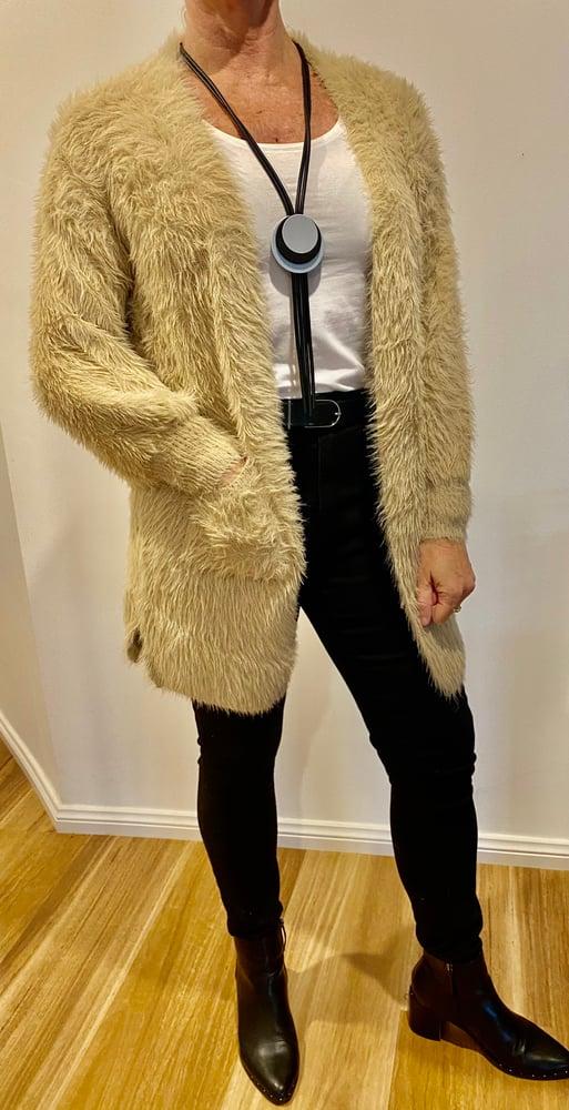 Image of Sue Fluffy Cardi beige