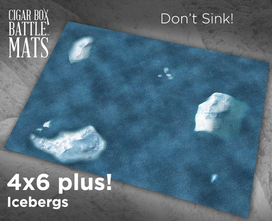 Image of Icebergs #1060 -- 6'x4' plus