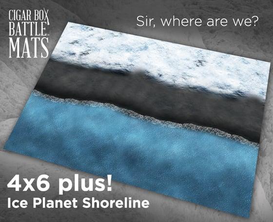 Image of Ice Planet Shoreline #1050 -- 6'x4' plus