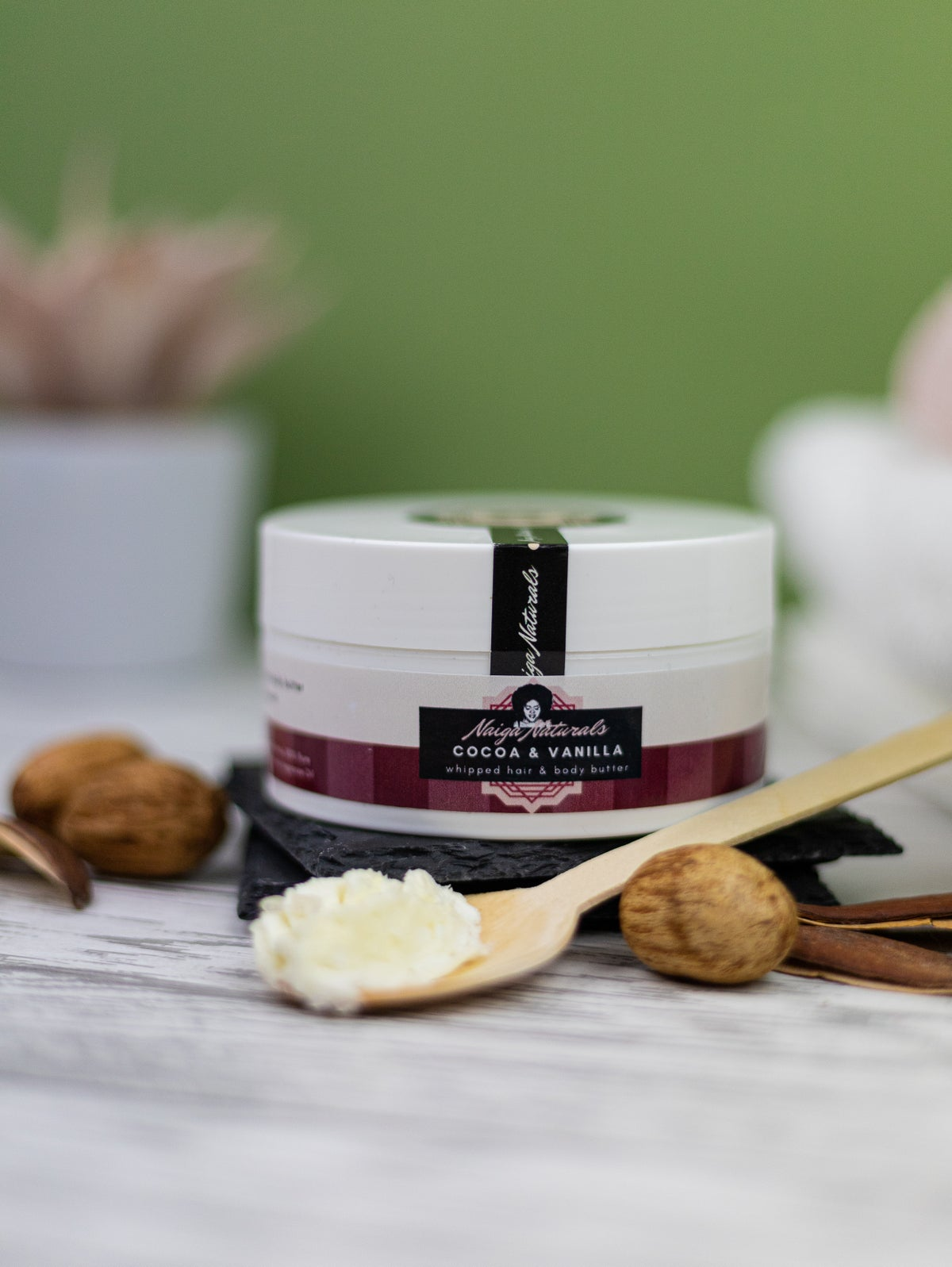 Image of Cocoa & Vanilla Whipped Hair and Body Butter