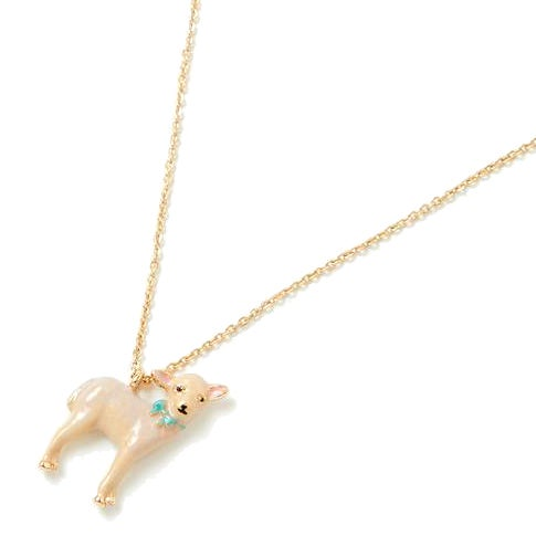 Image of Fable Gold Enamel Lamb Short Necklace