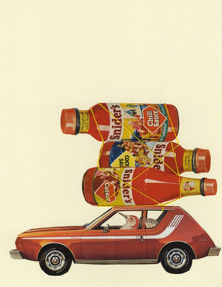 Image of Connoisseur of condiments. Limited edition collage print.