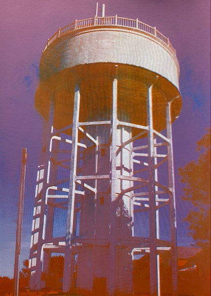 Image of Rumfield Road Watertower 2/20 by Charlie Evaristo-Boyce