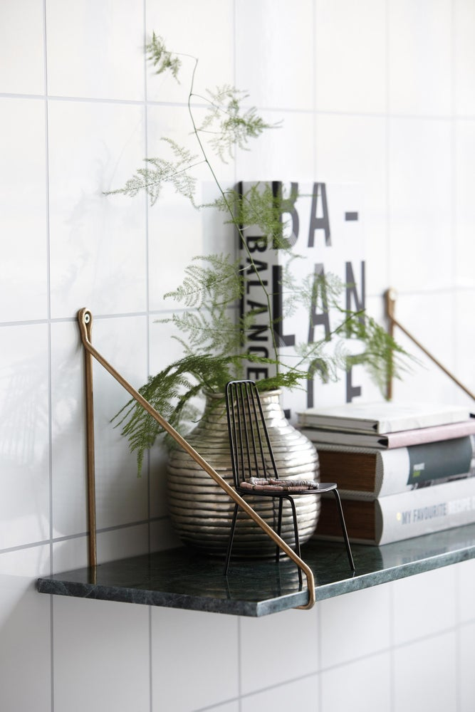 Image of Green marble wall shelf