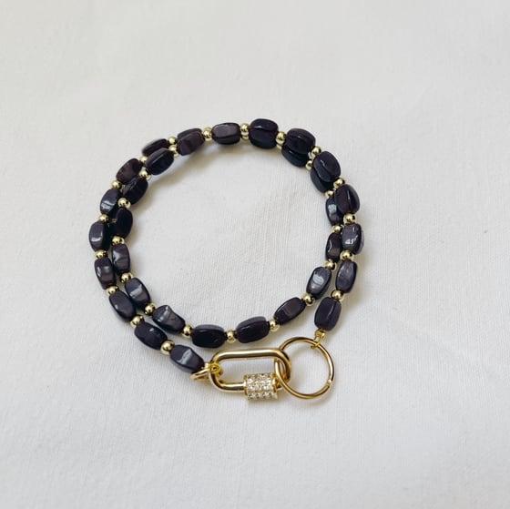 Image of Bracelet double ANAÏ // Violet