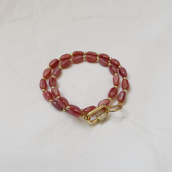 Image of Bracelet double ANAÏ // Rose