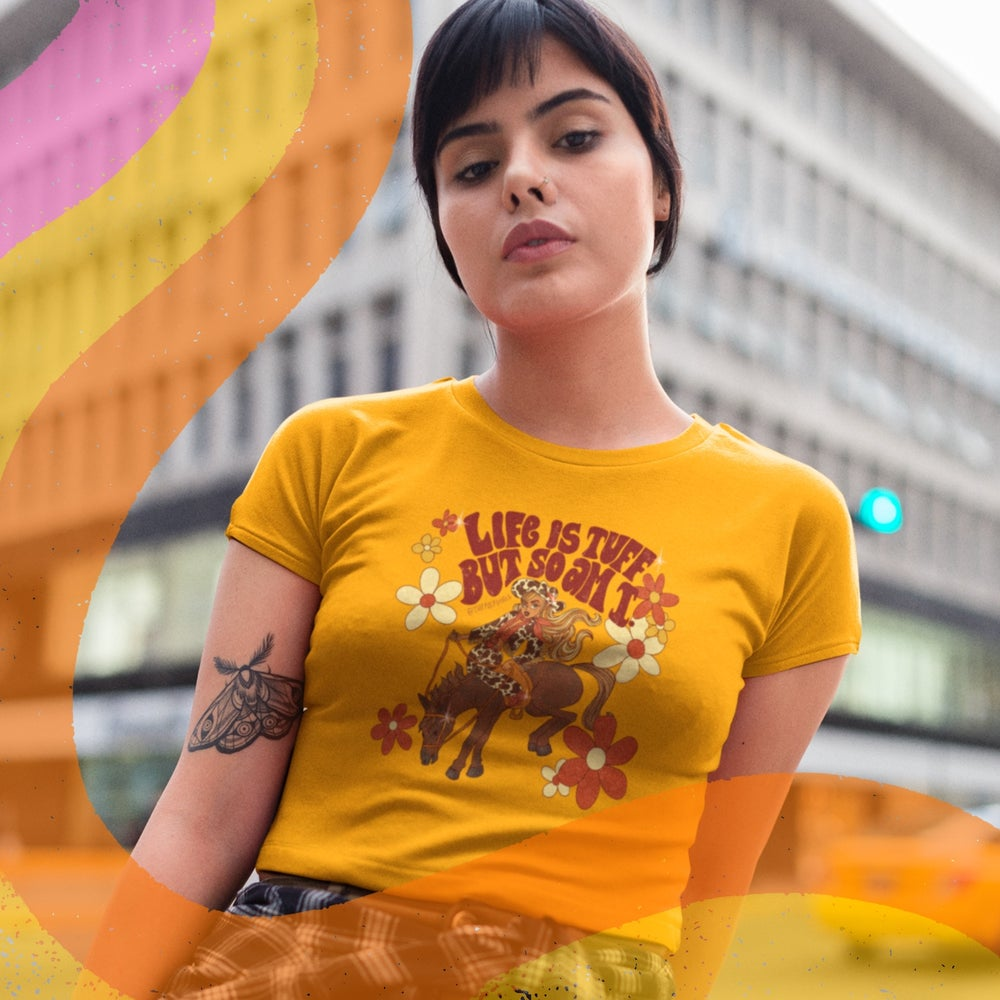Image of LIFE IS TUFF BABY/CROPPED TEE