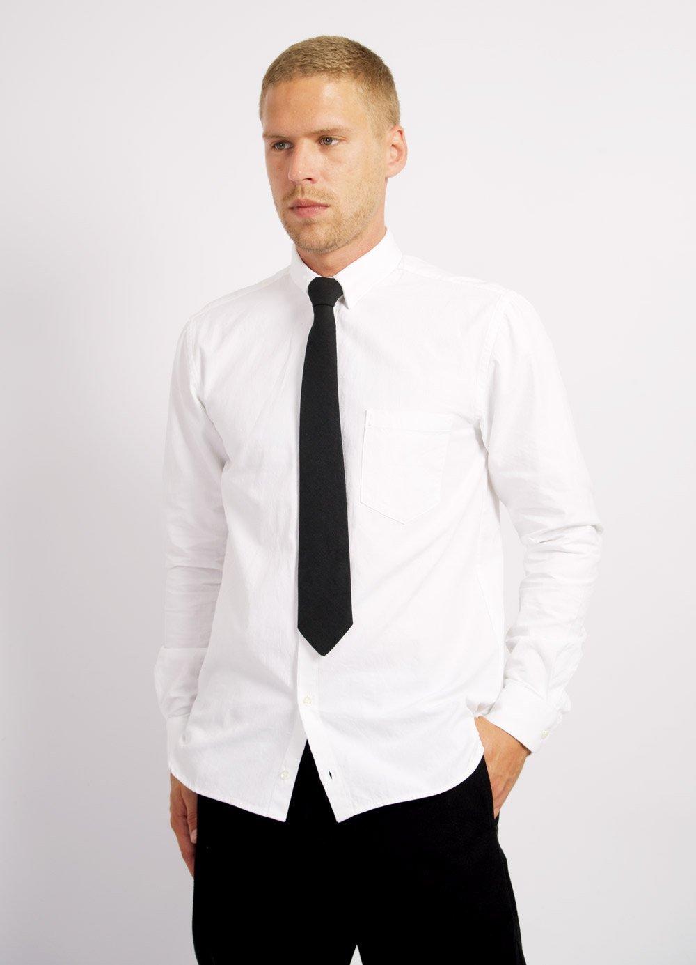 Hansen Garments HAAKON | Hidden Button Down Shirt | White