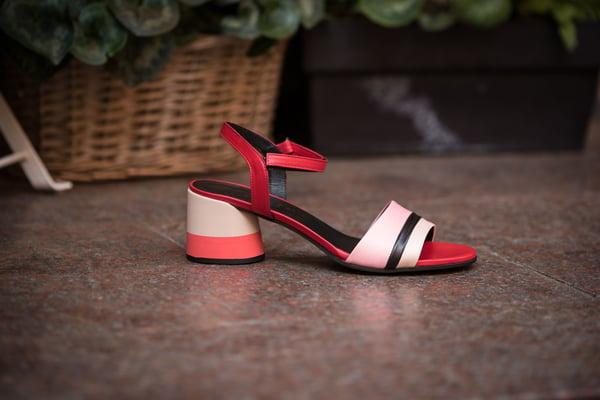 Image of Sandalo tacco rosso