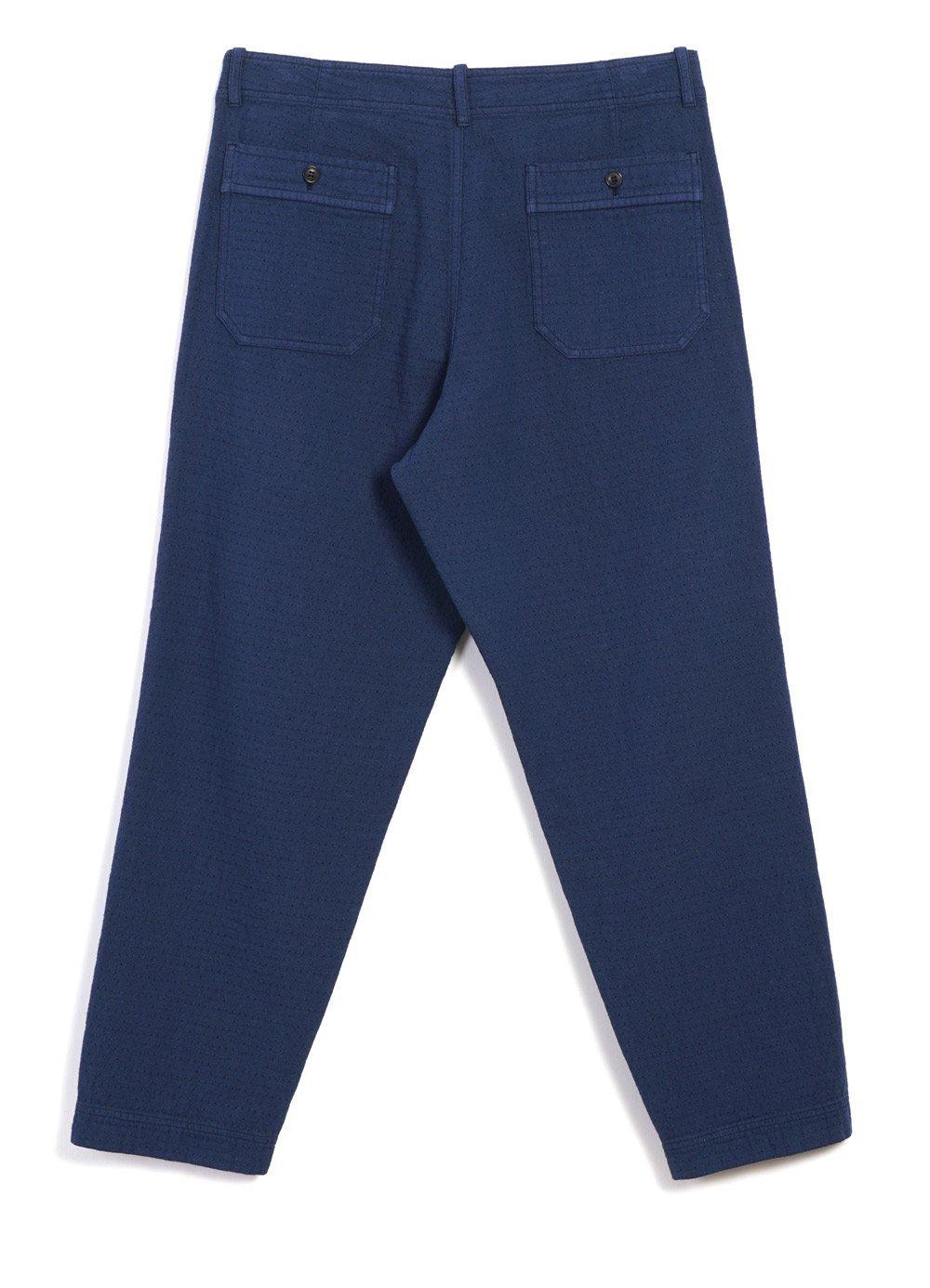 Hansen Garments TRYGVE | Wide Cut Cropped Trousers | Blue