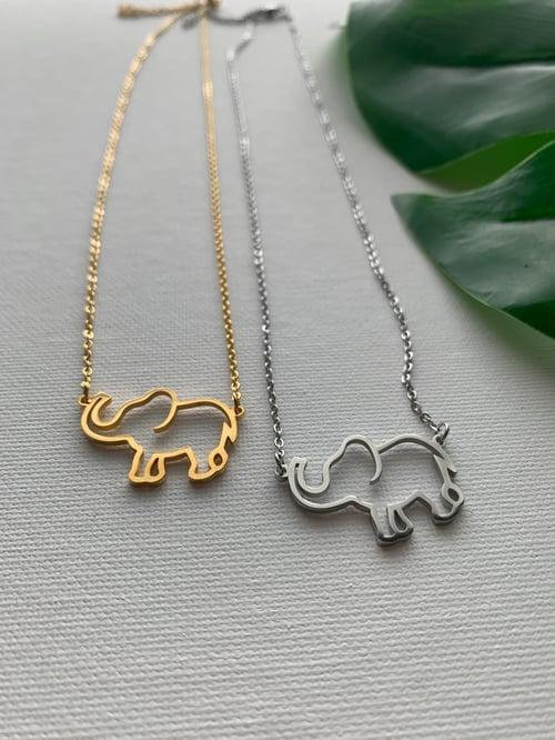 Image of ELEFANTE • Elephant Pendant Necklace