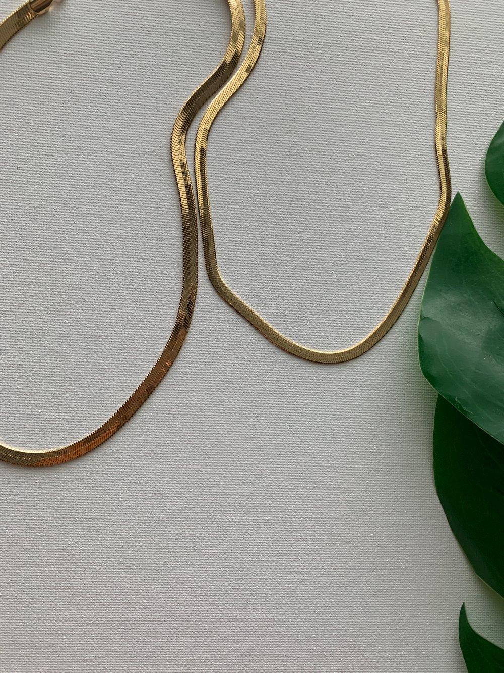Image of SAY YES • Herringbone Necklace