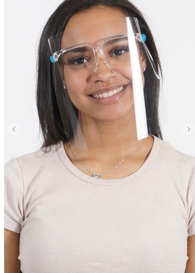 Image of Face Shield w/ Glasses