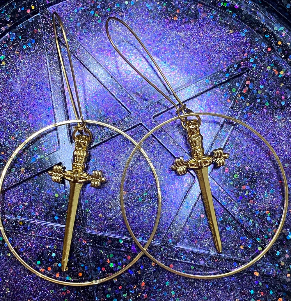 Golden Dagger Earrings