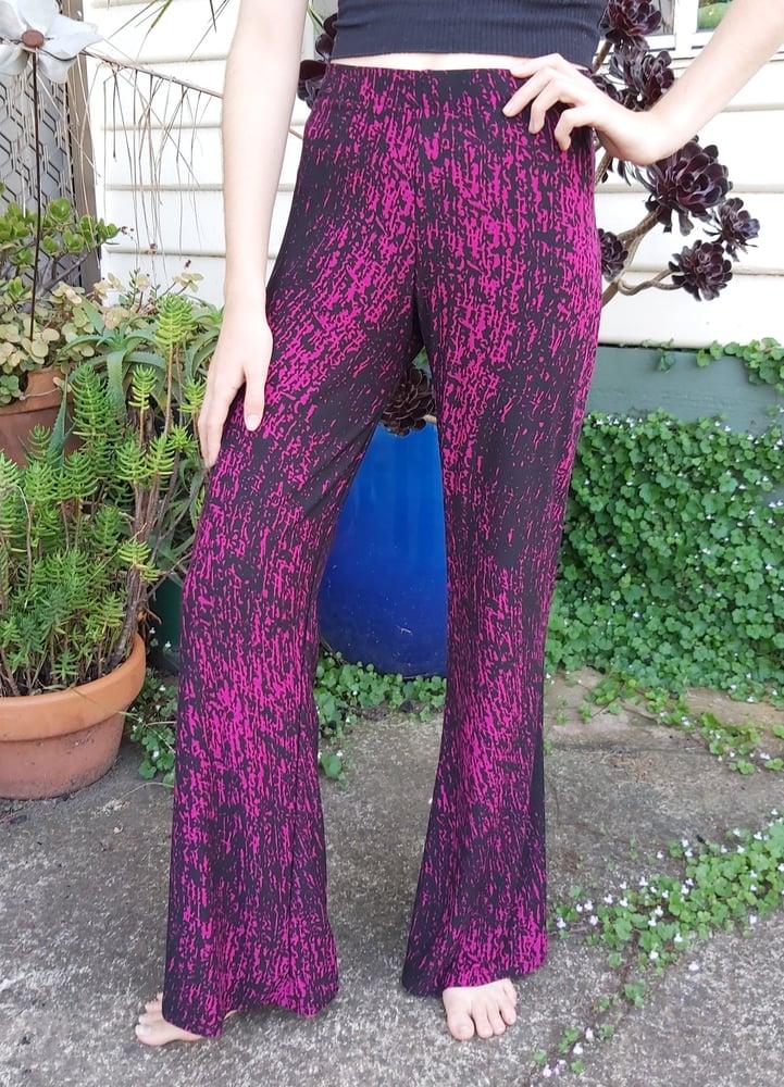 Image of Magenta Galaxy Kat Pants