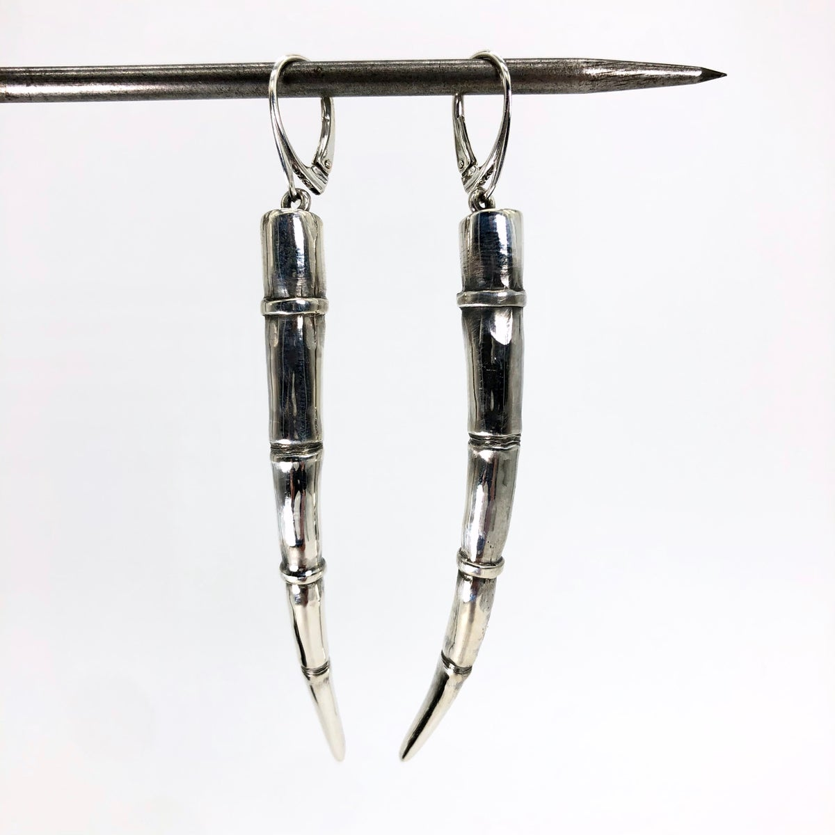 Image of Tendril Earrings, Silver #1