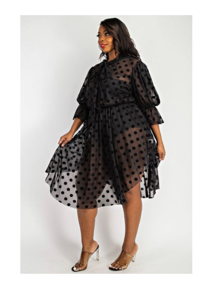 Image of It's the Polka Dots For Me Plus Size