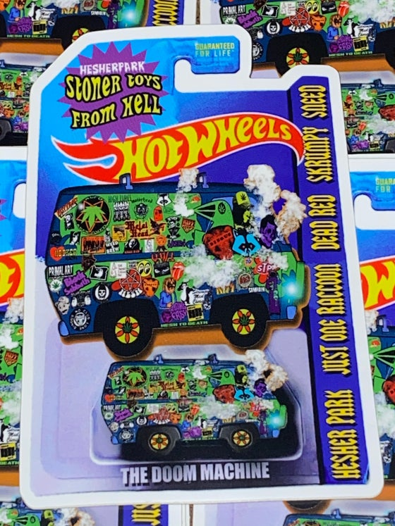 Image of HOT WHEELS DOOM MACHINE STICKER