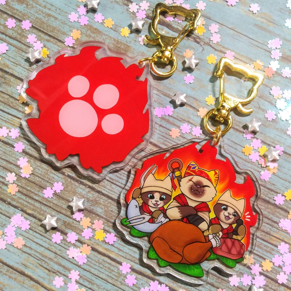 Meowscular Chef Double-Sided Charm!