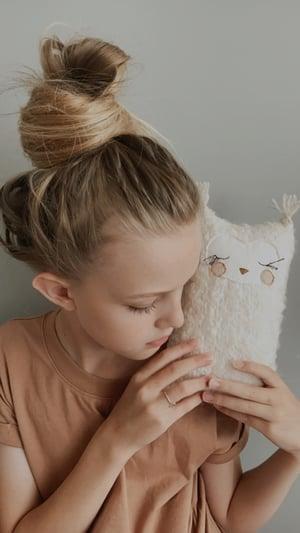 Image of LAST ONE - Tiny Boucle Owl