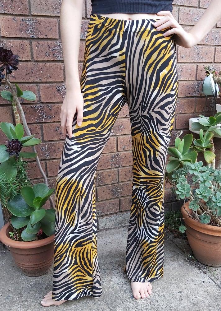 Image of KAT pants Zebra print lycra
