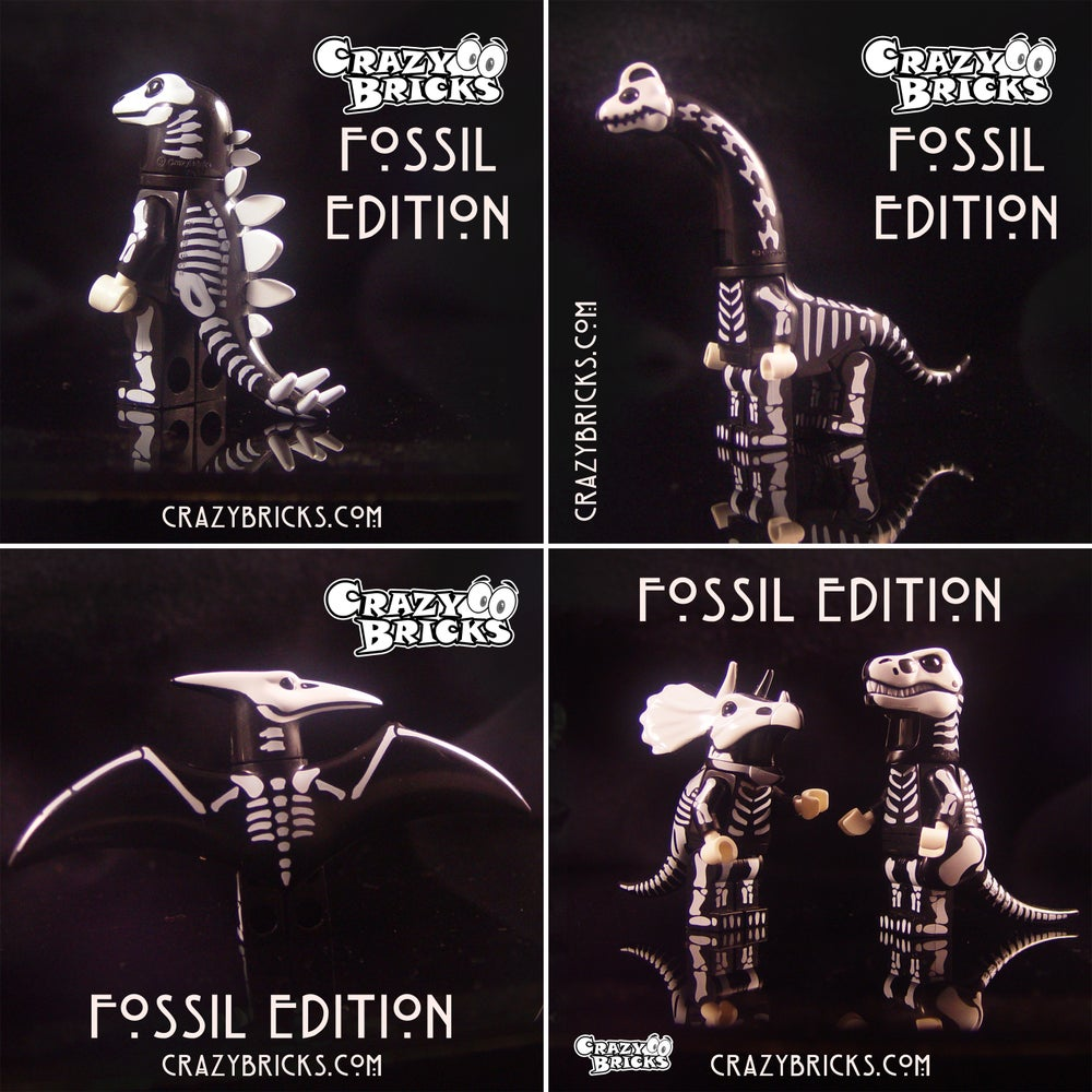 Image of All FIVE FOSSIL EDITION Dino Dudes! Limited Stock!