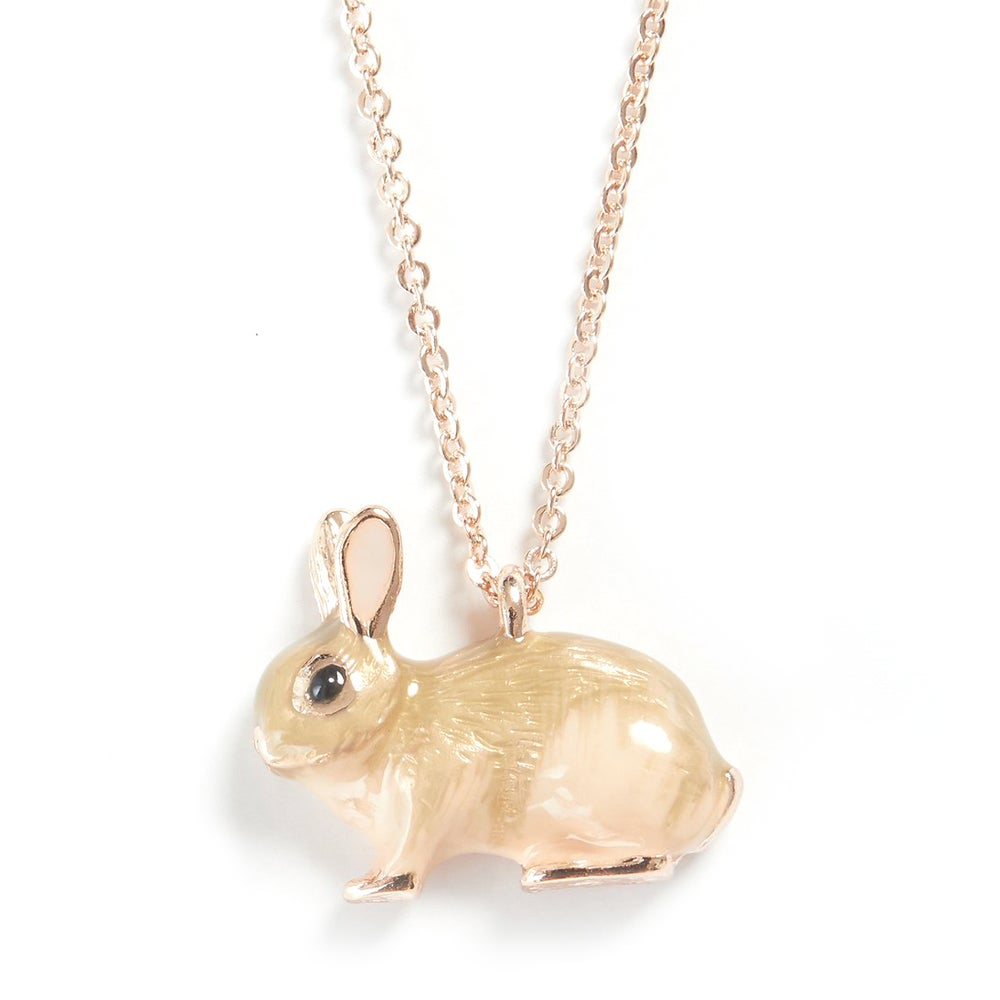 Image of Fable Enamel Rabbit Short or Long Necklace