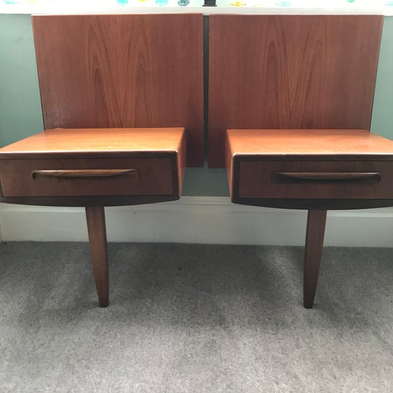 Image of Pair of G Plan Fresco Bedside Tables