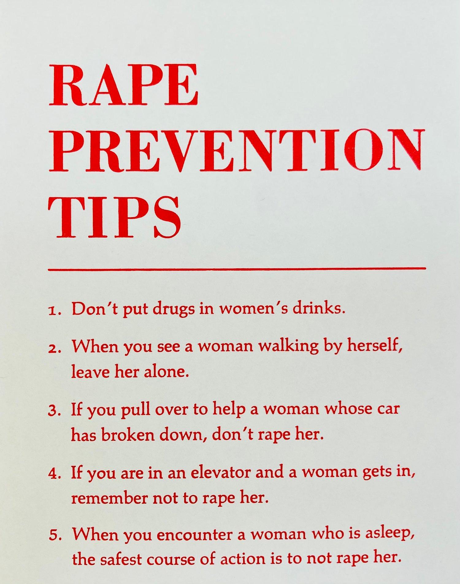 Image of 3 x Rape Prevention Tips