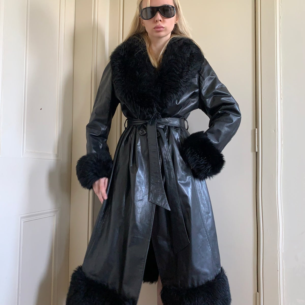 Image of Vintage 90s leather coat