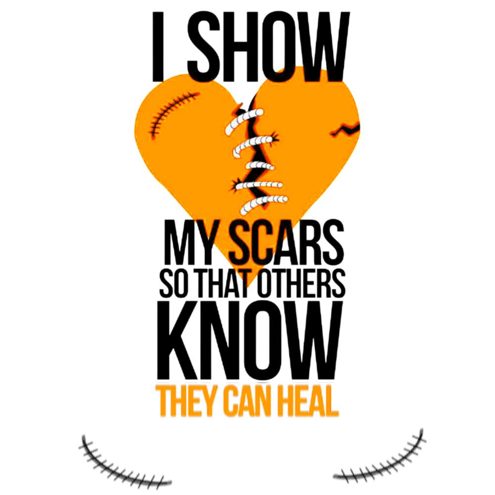 Image of My Scars Tee - Orange Heart