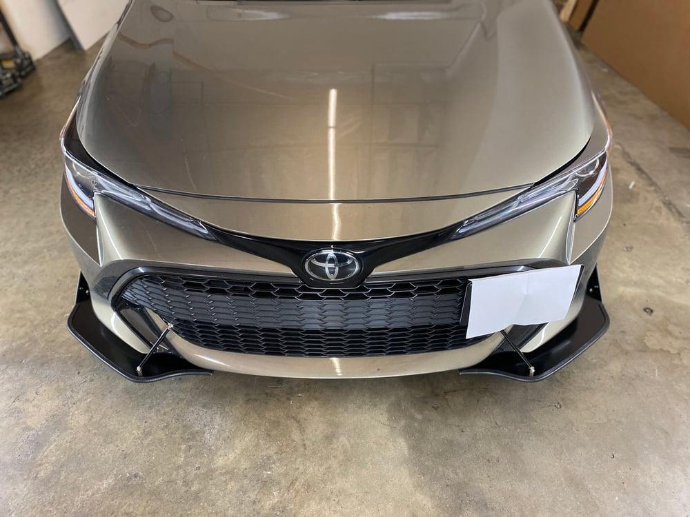 "Image of 2019-2021 Toyota Corolla Hatchback ""2 piece"" Splitter"